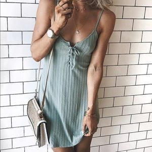 Lace Up Strap Dress